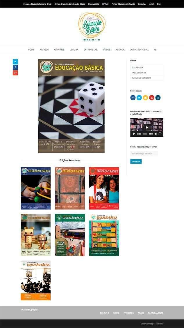 Revista Brasileira de Educacao Basica Portfolio